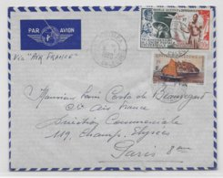 1950 - NOUVELLE CALEDONIE - TIMBRE UPU Sur ENVELOPPE Par AVION De NOUMEA => PARIS - Nueva Caledonia