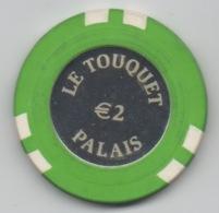 Jeton De Casino Le Touquet Palais €2 (Lucien Barrière) - Casino