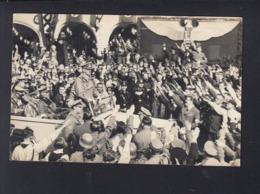 Dt. Reich Tschechien AK Hitler In Rumburk Rumburg Mit Zeppelin 1938 - Personnages Historiques