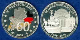 Medaille 60 Jahre BRD 36mm 2009 - [ 7] 1949-…: BRD