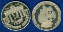 Medaille 10 Jahre Deutsche Einheit 40mm 1999 - [ 7] 1949-…: BRD