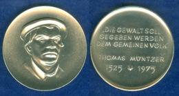 Medaille Thomas Müntzer 1975 36mm - [ 7] 1949-…: BRD