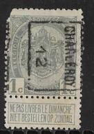 Charleroy  1912  Nr. 1821B Hoekje Linksboven - Precancels