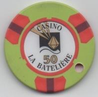 Jeton De Casino La Batelière Martinique 50 Francs (Percé) - Casino