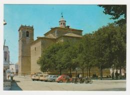 Espagne Castilla La Mancha Ciudad Real Pedro Munoz Eglise Paroissiale Citroën 2CV Ami 6 Austin Fiat 850 Motos - Ciudad Real