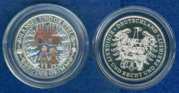 Medaille Grimms Märchen-Hänsel Und Gretel 30mm Silber 333 - [ 7] 1949-…: BRD