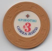 Jeton De Casino Epirotiki (Croisière Grecque) Par Casinos Austria $3 - Casino