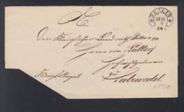 Falthülle 1870 Berlin Nach Salzwedel Hufeisenstempel - Preussen