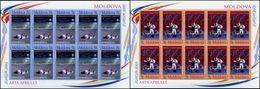 Moldova, 2003, Mi. 463-64, Y&T 400-01, Sc. 444-45, SG 461-62, Europa, Poster Art, MNH - 2003
