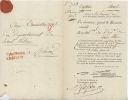 Paris An 5 -  2.6.1797 Directoire Exécutif  Rouge  Sénéchal 876 A - 1701-1800: Précurseurs XVIII
