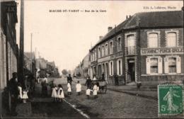 ! [62] Alte Ansichtskarte Biache-Saint-Vaast, Rue De La Gare - Francia