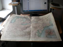 Nordoststaaten Der Nordamerikanischen Union Klafings Volks Und Fanilien Atlas A Schober Leipzig 1901 Big Map - Geographical Maps