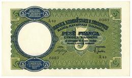 5 FRANCHI REGNO D'ITALIA E ALBANIA BANCA NAZIONALE D'ALBANIA GIUGNO 1939 SPL+ - [ 6] Colonie