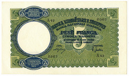 5 FRANCHI REGNO D'ITALIA E ALB. BANCA NAZIONALE D'ALBANIA GIUGNO 1939 SPL+ - [ 6] Colonies