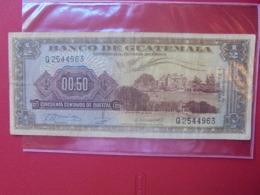 GUATEMALA 1/2 QUETZAL 1969 CIRCULER (B.7) - Guatemala