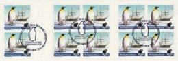 Black Sheep Stamps New Zealand Booklet - Antarctica Emperor Penguins And Ship - Adhesive Stamps - Cancel Penguin 2001 - Dépendance De Ross (Nouvelle Zélande)