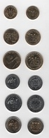 West African St. - Set 6 Coins 5 10 25 50 100 200 Francs 2017 - 2019 UNC Lemberg-Zp - Monnaies