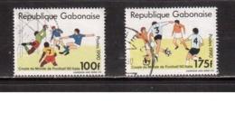 Gabon-1990,(Mi.1063A-B),Football, Soccer, Fussball,calcio,Used - World Cup