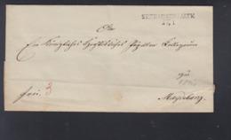 Falthülle 1841 Seehausen Nach Magdeburg - Preussen
