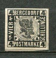 BERGEDORF -  Yv. N°7  Mi. 5  (o) 1 S  Noir S  Chamois   Cote 10€ BE R  2 Scans - Bergedorf