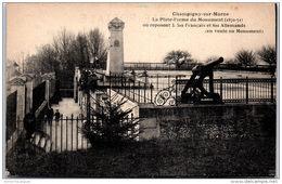 94 CHAMPIGNY SUR MARNE - La Plate Forme Du Monument De 1870 - Champigny Sur Marne