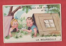 CARTE A SYSTEME  -  Viens Sous Ma Tente Et Tu Verras ....  - LA BOURBOULE . - Mechanical