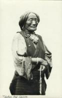 Tibet Thibet, Old Native Tibetan Woman, Jewelry Necklace (1930s) RPPC Postcard - Tibet