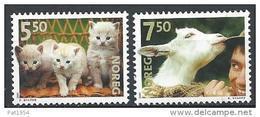 Norvège 2001 N°1356/1357 Neufs** Animaux Chats Et Agneau - Norvegia