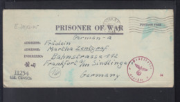USA Kriegsgefangenensendung 1944 Camp Algona Nach Frankfurt Am Main Prüfstelle H - Briefe U. Dokumente