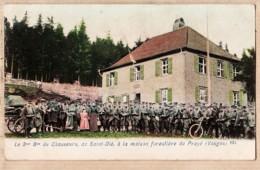 X88115 à Saisir PRAYE Vosges Maison Forestière Le 3em Bataillon De Chasseurs De SAINT-DIE St 1890s Edition ? N°923 - Autres Communes
