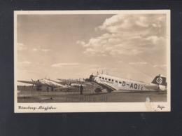 Dt. Reich AK Nürnberg Flughafen Lufthansa Maior Dinklage Mit Zeppelin Gelaufen - 1919-1938: Interbellum