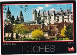 Loches - L'église Saint-Ours Et Les Logis Royaux Du Chateau, Vus Du Jardin Public - (Indre-et-Loire) - Loches