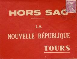 1954- Superbe Enveloppe HORS-SAC  Affr. 10 F Gandon Oblit. De Chatellerault -au Dos, Très Bel Ambulant TypeIII - 1921-1960: Moderne