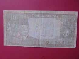 INDONESIE 10 RUPIAH 1960 CIRCULER (B.7) - Indonesien