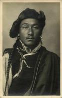 Tibet Thibet, Native Tibetan Man (1920s) Burlington Studios RPPC Postcard - Tibet