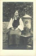 Tibet Thibet, Native Tibetan Woman, Necklace (1910s) Burlington Smith RPPC - Tibet
