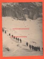 Alpini In Marcia Sulla Neve Grande Foto Anni 30 - War, Military