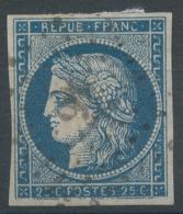Lot N°50481  Variété/n°4, Oblit PC 91 Ansauvillers, Oise (58), Ind 15, Filet SUD - 1849-1850 Cérès