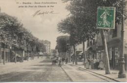 93 PANTIN  Route D'Aubervilliers Prise Du Pont Du Chemin De Fer - Pantin
