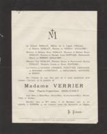 Amiens, 1926, Faire-part Décès,Verrier,Douchet, Neulat, Du Mesnil Gaillard,,Blaisel,Birague,Guillebon,Berny - Décès