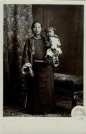 Tibet Thibet, Native Bhutan Woman With Child (1910s) Burlington Smith RPPC - Tibet