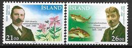 Islande 1989 N° 663/664 Neufs Histoire Naturelle, Célèbrités - Nuovi