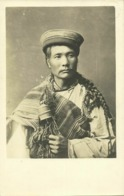Tibet Thibet, Native Tibetan Man With Prayer Wheel (1910) Burlington Smith RPPC - Tibet