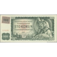 TWN - CZECH REPUBLIC 1L - 100 Korun ?eských 1961 (1990-92) Series M - Adhesive Stamp On CZECHOSLOVAKIA 91L UNC - Czech Republic