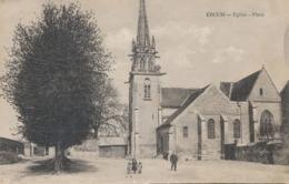 CPA - France - (60) Oise  - Ercuis - Eglise - Place - Autres Communes