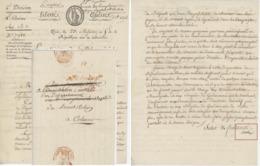 """Paris An 5 - 11.7.1797 Ministre Et Signature Cochon """"Évadés De Prisons"""" Héraldique - Postmark Collection (Covers)"""