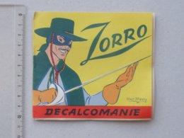 DECALCOMANIES Anciennes Walt DISNEY: ZORRO Livret Avec 3 Volets Intérieurs - DON DIEGO Sergent GARCIA - JESCO Imagerie - Collezioni
