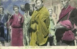 Tibet Thibet, Group Of Tibetan Lamas With Drums (1910s) Burlington Smith (2) - Tibet