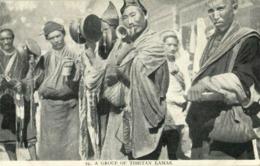 Tibet Thibet, Group Of Tibetan Lamas With Drums (1910s) Burlington Smith (1) - Tibet