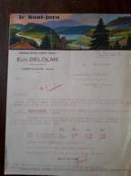L24/80 Ancienne Facture. Saint Claude. Manufacture D'articles En Matieres Plastiques. Eug. Delolme . 1938 - France